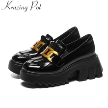 Spring Shoes Loafer Dress Platform Women Pumps High-Heels Tassel Casual Slip-On Krazing-Pot