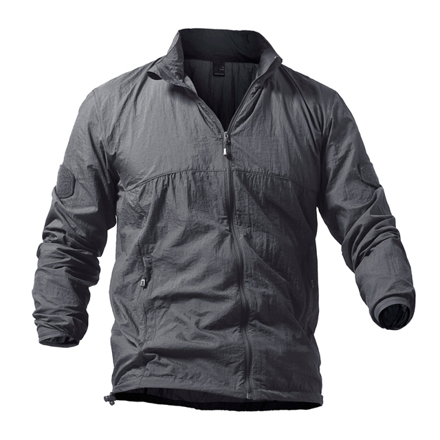 Army Military Skin Jackets Tactical Lightweight Waterproof Jacket Men Summer Breathable Thin Hoody Raincoat Portable Windbreaker