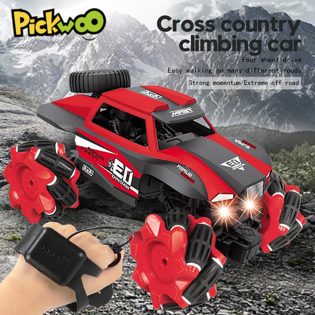 RC Car 116 4WD Radio Control Stunt Car Gesture Induction Twisting Off-Road Vehicle LED Light Climb Crawler Model Toys for Kids