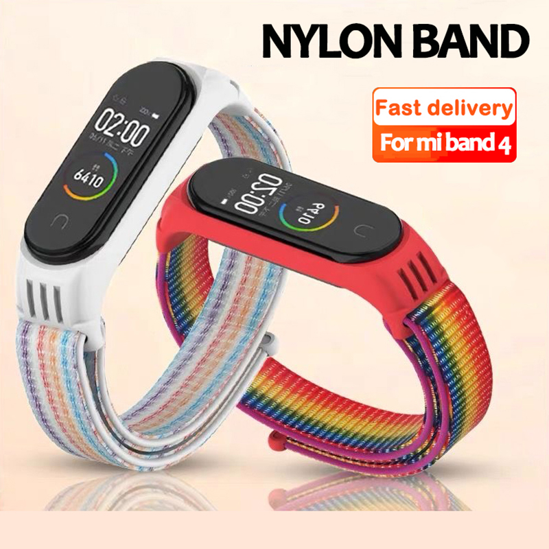 Nylon Strap For Xiaomi Mi Band 4 Strap Bracelet NFC Smart Watch Replacement Xiaomi Mi Band 3 Colorful Strap Anti-lost Wristband