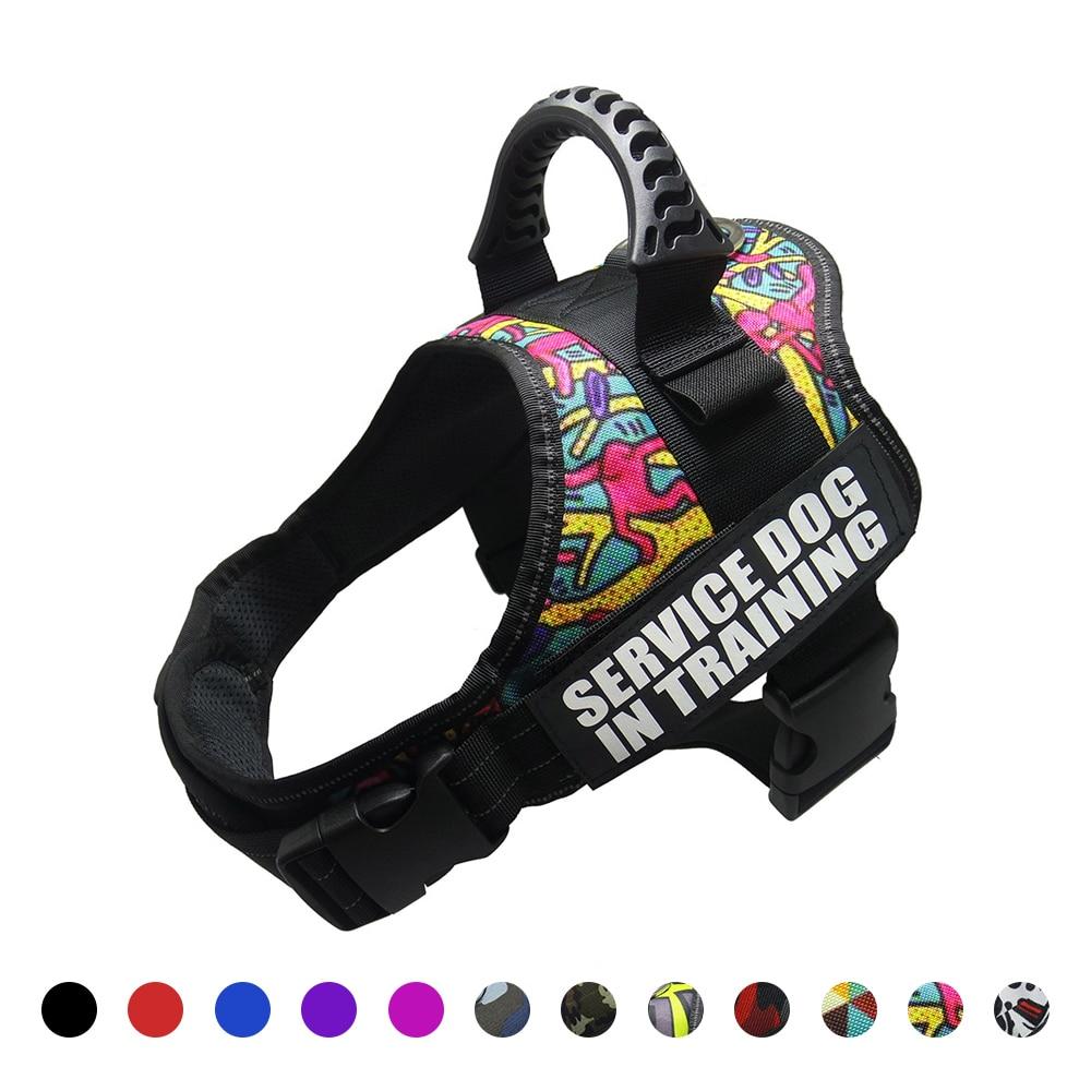 Dog harness Nylon reflective vest harness XS-XXL for small big dogs Chihuahua husky pitbull dog cat harnesses leash dog supplies