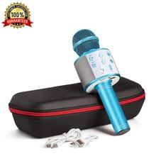 Беспроводной микрофон, профессиональный конденсаторный микрофон для караоке, Bluetooth стойка, Радио, микрофон, студия звукозаписи для iPhone, Android