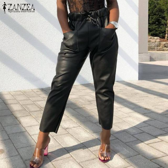 Women's PU Leather Trousers 4