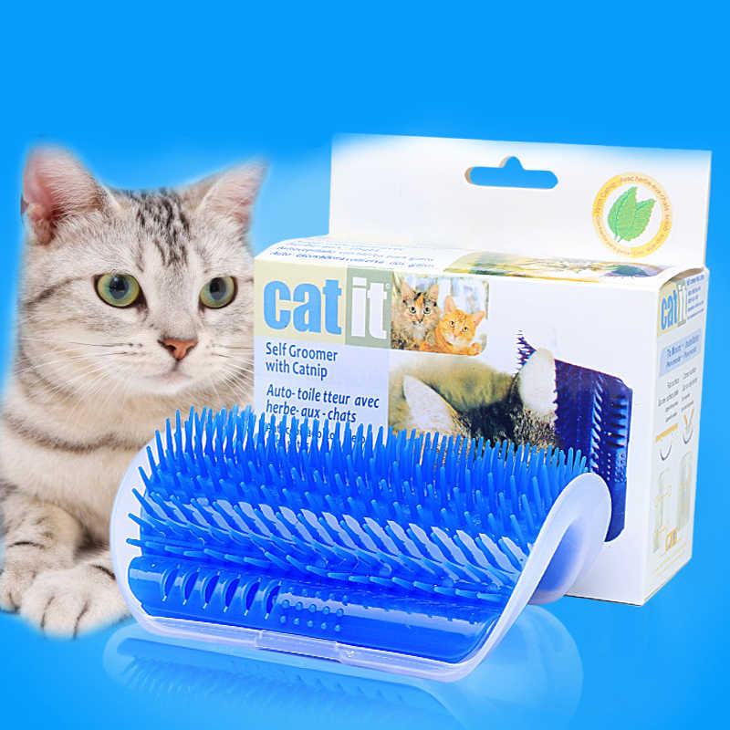 Pet Cat Wall Corner Hair Massager Cat Scratching Itchy Scratching Cat Cat Comb Massage Corner Brush Cat Grooming Supplies