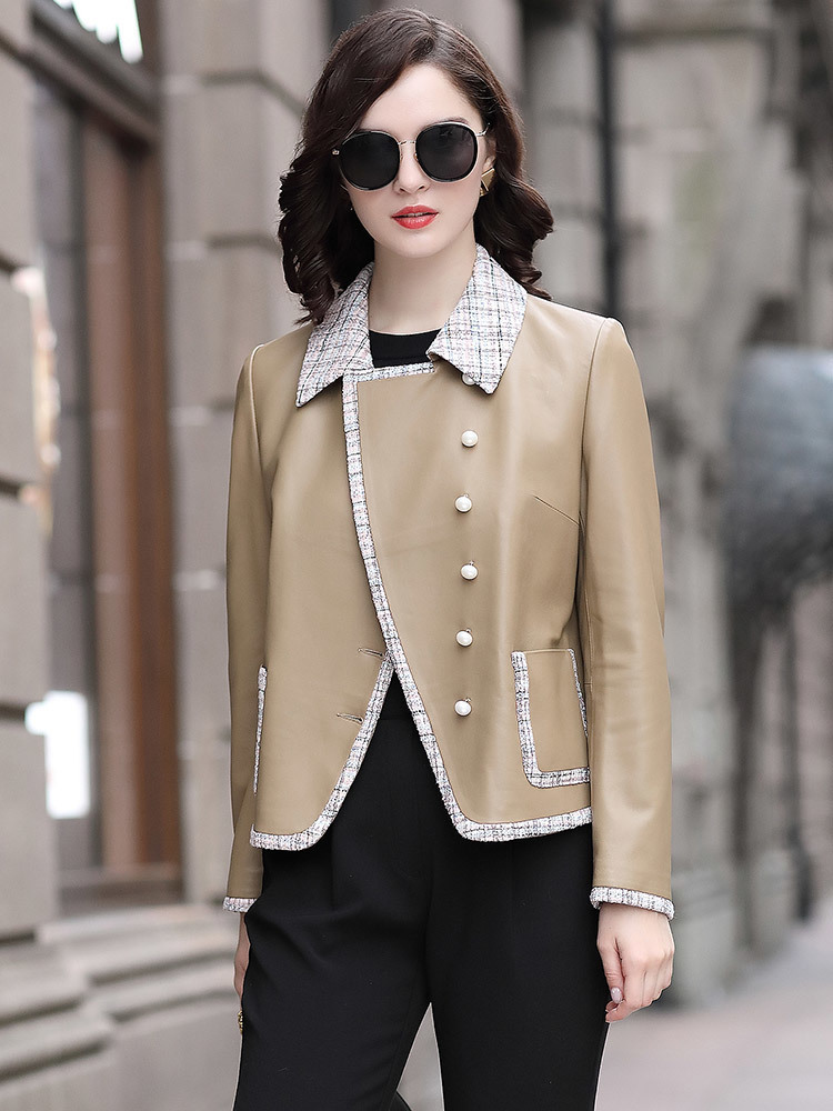 Jacket Leather Genuine 2020 Autumn Winter Jacket Women 100% Real Sheepskin Coat Female Elegant Blazer Chaqueta Mujer My