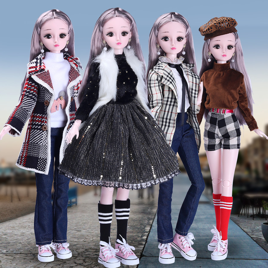 <font><b>BJD</b></font> Doll,<font><b>1/3</b></font> <font><b>SD</b></font> Dolls 21 Ball Jointed Dolls with Clothes Outfit Shoes Wig Hair Makeup Best Gift for Girls image