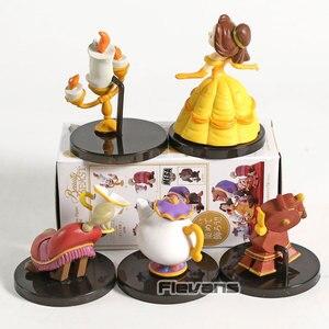 Image 4 - WCF personnages classiques Vol.4 la Belle et la bête Belle Mini figurines à collectionner en PVC jouets 5 pièces/ensemble