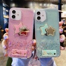 Glitter Case for Huawei P Smart 2019 Z Case Silicon P20 P30 P40 Pro P9 P8 Lite 2017 Mini P10 Plus Phone Star Mirror Clear Cover