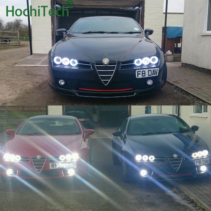 6pc Cotton RGB Light LED Angel Eyes Kit Halo Ring For Alfa Romeo 159 2005-2011