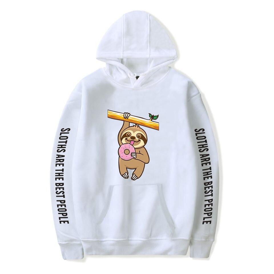 Cute Sloth Hoodies Men Women Sweatshirts Hooded Harajuku Hip Hop Hoodie Fashion Sloth Boys Girls Autumn White Casual Pullovers