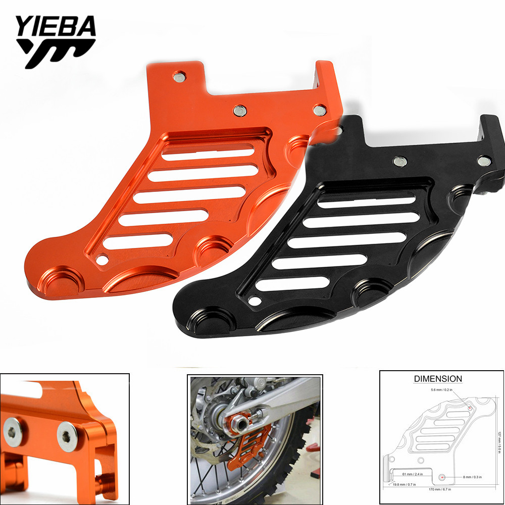 For KTM SX XC XCW SXF SX-F EXC EXC-F XCF-W 125/150/200/250/300/350/400/450/500/525 Rear Disc Rotor Brake Guard Cover Protection image