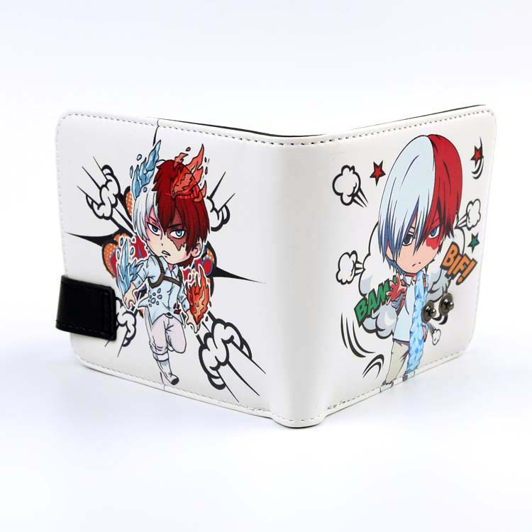 Anime Peripheral Cute Snap Closure Wallet My Hero College Boom Focal Frozen Purse Students Wallet