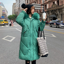KMVEXO 2019 New Arrival Fashion Women Winter Jacket Cotton Padded Warm Thicken With Fur Collar Long Coats Parka Womens Jackets