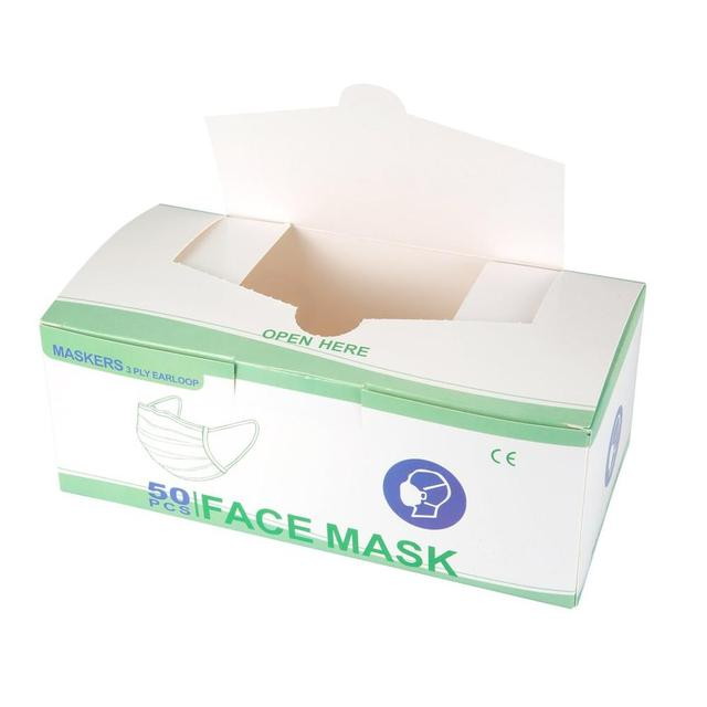 3 layers 50 pcs mouth mask Anti Dust Mouth Mask Carbon Filter Windproof Mouth-muffle Bacteria Proof Flu kind Face Masks 5