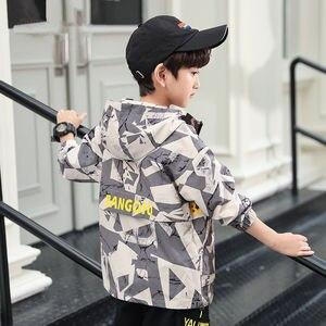 Image 3 - Teens Jungen Mädchen Hoodie Herbst Windjacke Oberbekleidung Kinder Disguise Armee Camouflage Baseball Jacke Trainingsanzug 10 12 14 Jahre