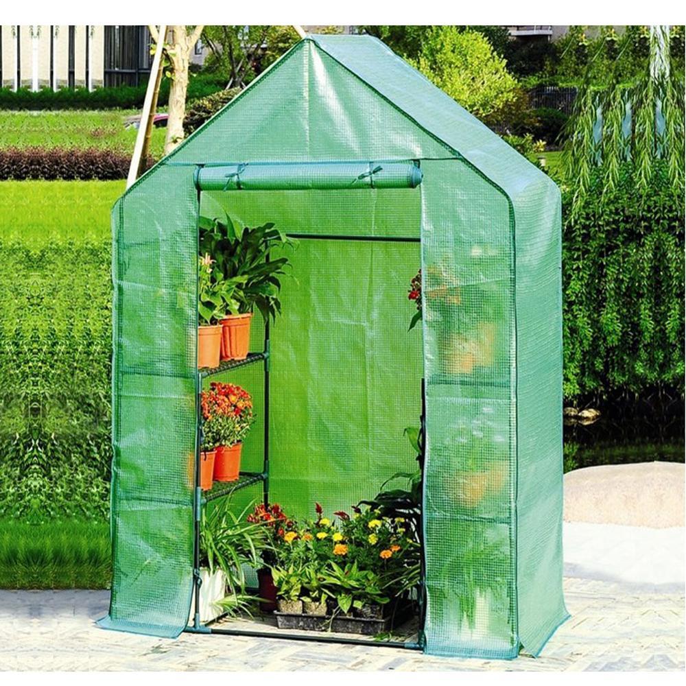 Deux étages, serre verte pour la maison, Mini-jardin, salle chaude en PVC, 143x73x195cm