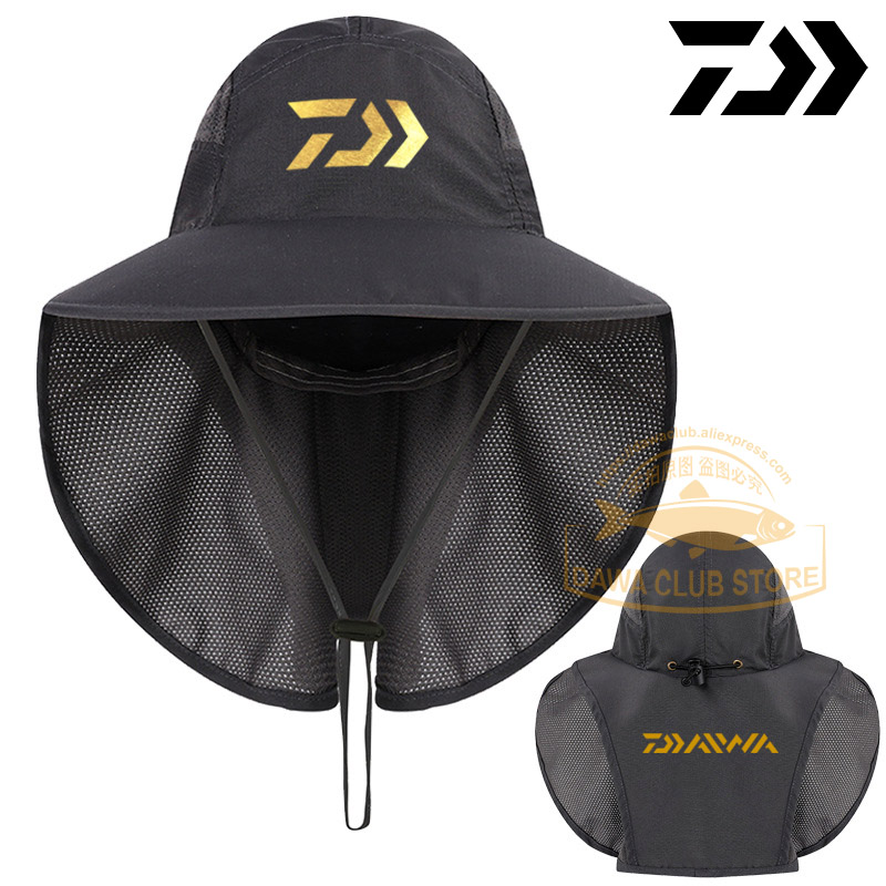 UNISEX Daiwa Fishing Cap UV Protection Face Neck Cover Sun Protcet Man DAWA Fishing Hats Woman Outdoor Sport Hiking Visor Hat