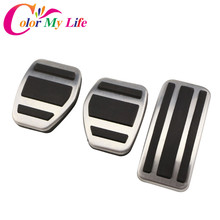 Cover Pedals Car-Interior Stainless-Steel Peugeot 208 Auto-Pedal-Protection Color My