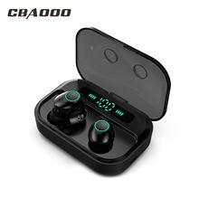 CBAOOO TWS 5.0 Bluetooth Earphone Headset Power LED Display Wireless Earbuds IPX