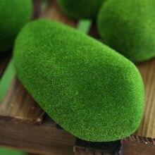 8pcs/lot Artificial Foam Moss Stones Grass Bryophytes Plant Bonsai for Home Wedding Party Garden Miniature Dollouse Decoration