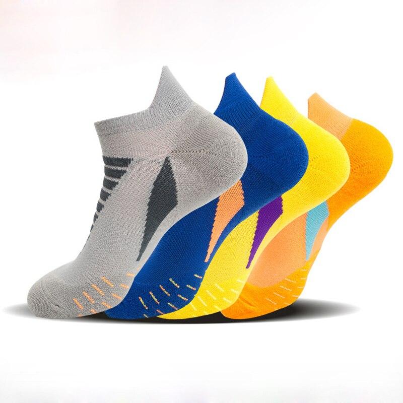 2020 New Running Socks Professional Sports Socks Towel Bottom Outdoor Short Tube Fitness Crew Socks Men 7 Colors Pairs / Lot