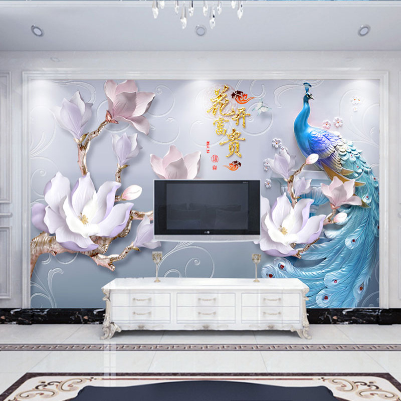 3D TV Backdrop Wallpaper Living Room 5D Stereo Mural 8D Film And Television Wall Cloth Seamless 10D Decoration Glorious Wall