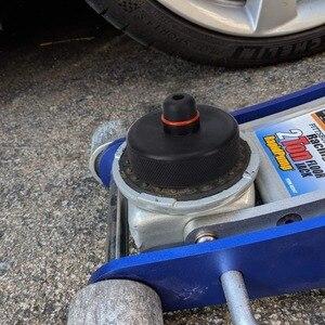 Image 3 - 4 pezzi di sollevamento in gomma Jack Pad adattatore strumento telaio custodia per Tesla modello 3 modello S modello X Jack Lift Point supporto accessori auto