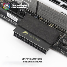 Alimentation électrique pour ordinateur M/B ATX 24 broches, adaptateur de connecteur 90 degrés, tête de direction, accessoires de montage MOD DIY, artefact de câblage