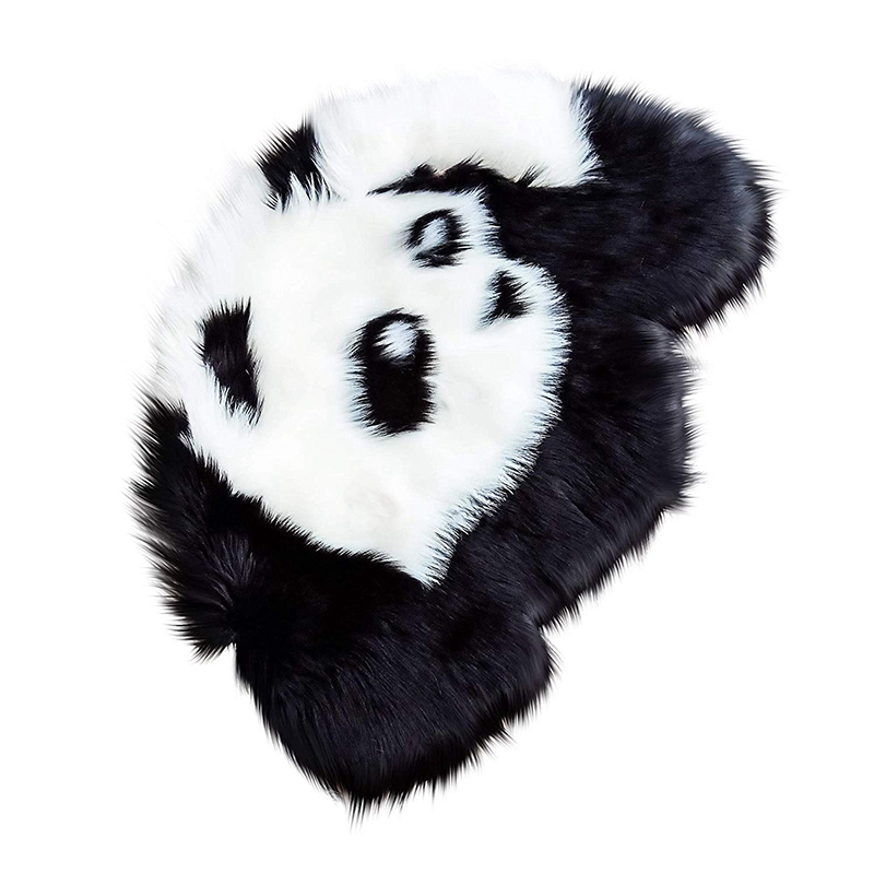 Panda Rug Artificial Sheepskin Hairy Carpet for Living Room Sheep Fur Plain Fluffy Area Rugs Washable Bedroom Faux Baby Play Mat|Rug| |  - title=