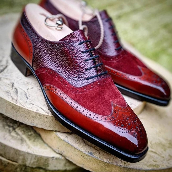 Men Leather Shoes Lace Up Casual Shoes Dress Shoes Brogue Shoes Spring Ankle Boots Vintage Classic Male Casual F53