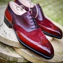 Men Leather Shoes Lace Up Casual Shoes Dress Shoes