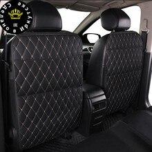 רכב אוניברסלי מושב אחורי מגן כיסוי 1pc ארגונית Tablet Stand תליית תיק סטיילינג אחסון מחזיק בעיטת מחצלת אביזרי רכב