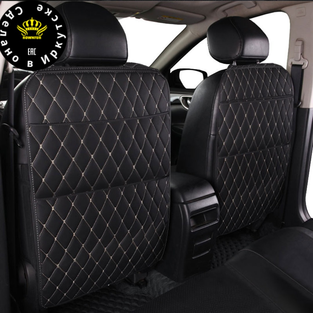 Universal Car Seat Back Protector Cover Car Organizer Tablet Stand Hanging Bag Styling Storage Holder Kick Mat Car Accessories