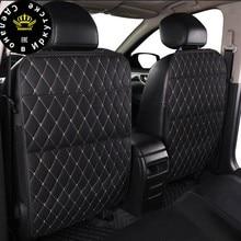 Uniwersalny samochód oparcie siedzenia obudowa ochronna 1pc organizator stojak na Tablet wisząca torba stylizacja uchwyt do przechowywania Kick Mat akcesoria samochodowe