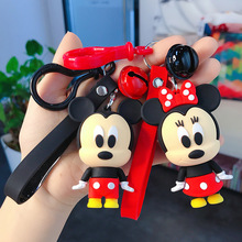 Fashion Cartoon Mickey Doll Minnie Keychain Stitch Daisy Donald Duck Keychains For Women Girl Key Chain Car Key Ring Accessories cute cartoon girl mickey hair rope minnie doll anime daisy donald headband for kid knotted hair loop women holder headdress gift