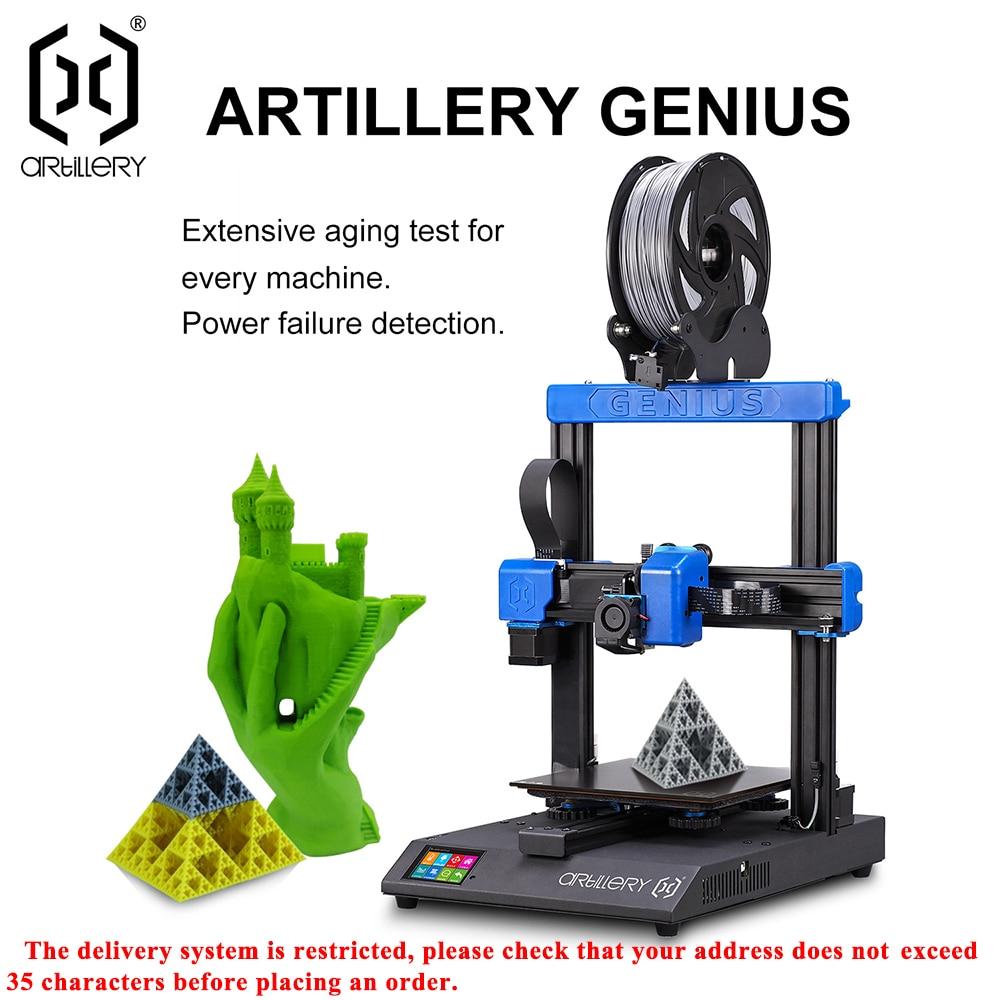 2020!artillery 3d-printer GENIUS 220X220X250mm Size Desktop level High Precision Dual Z axis TFT Scr
