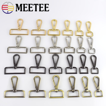 5/10pcs Meetee 16-50mm Luggage Straps Metal Buckles Dog Collar Hanger Lobster Swivel Clasps Trigger Clips Snap Hook DIY Craft