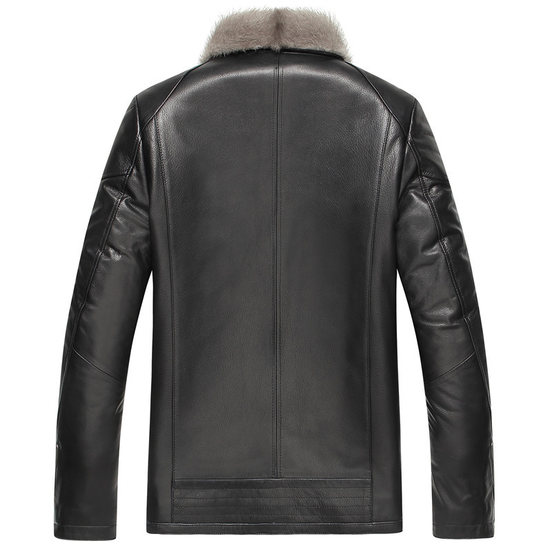 Genuine Leather Jacket Men Natural Mink Fur Coat Winter Jacket Men Luxury Cow Leather Jackets Chaqueta LSY069068 MY1444