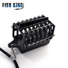 FISH KING 20-80g Feeder Two Barbed Sharp Hooks Length 48cm Carp Fishing Group Bait Cage Lead Sinker Swivel With Line For Tackle