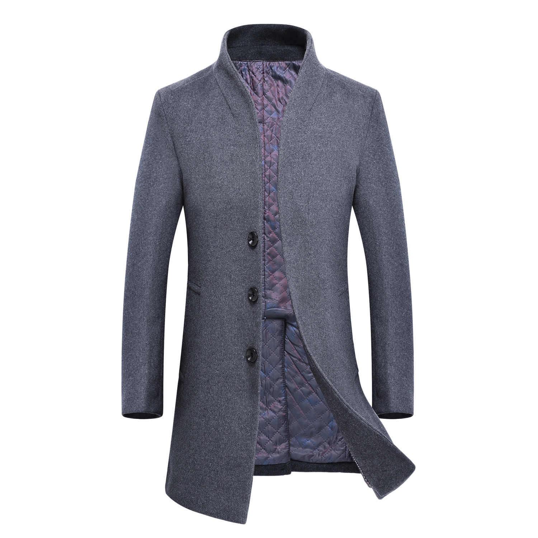 Yün ceket erkekler kore tarzı erkek yün ceket palto erkekler artı boyutu kış erkek ceket erkek mont Abrigo Hombre KJ239