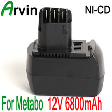 12V 6800mAh Ni-MH Replacement Power Tool Battery for METABO 6.02151.50 BZ12SP BS 12 SP, BSZ 12, BZ 12 SP, SSP 12, ULA9.6-1