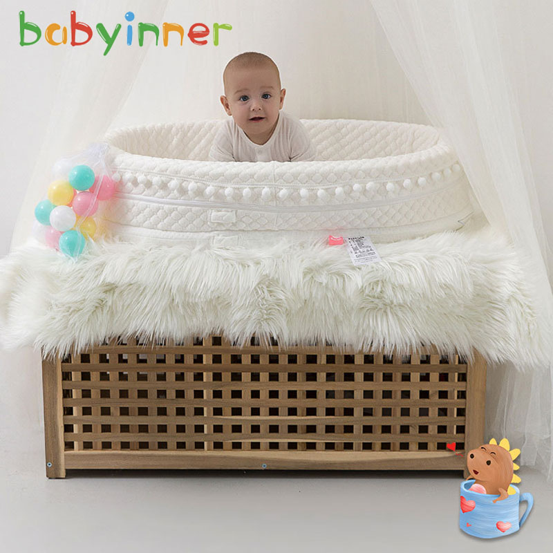 Babyinner Newborn Bed Portable Baby Crib Washable Removable Bionic Baby Bed Waterproof And Breathable Infant Cradle Cot