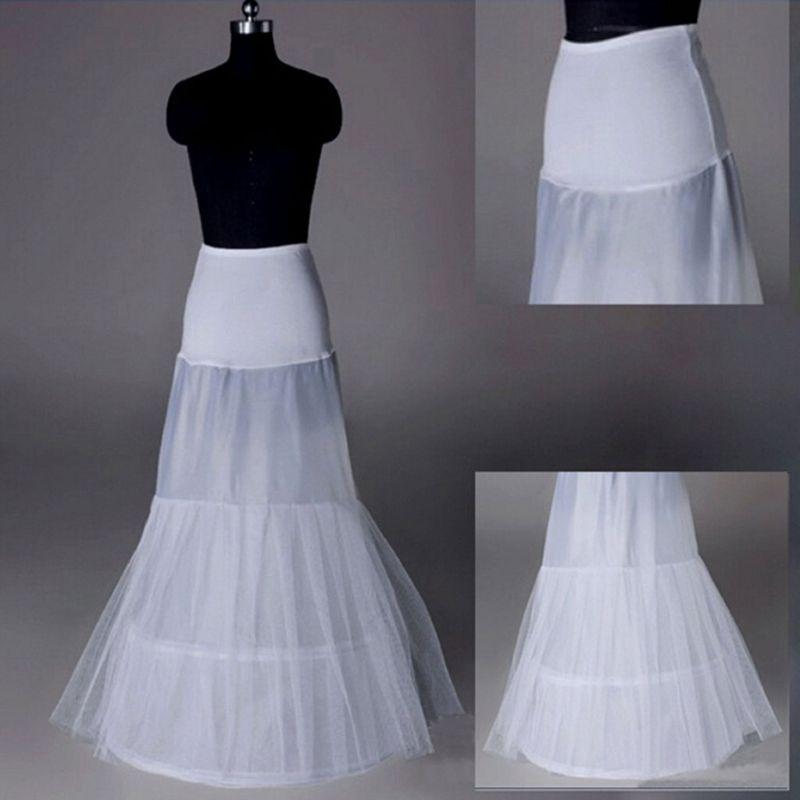 Fashion Little Fishtail Lady Waist Bag Hip Bride Wedding Dress Petticoat Long White Slip Underskirt E15E