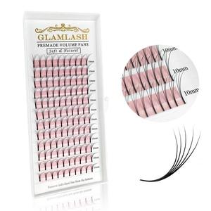 Image 1 - GLAMLASH 2D 6D vorgefertigten volumen fans Langen Stiel Falsche Wimpern Korea Seide Einzelnen Wimpern Verlängerung Handgemachte Natürliche Nerz