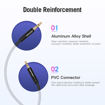 Vention Aux Cable 2.5mm to 3.5mm Audio cable Jack 3.5 to 2.5 male Aux Cable For Car SmartPhone Speaker Headphone Moible Phone 5