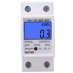 Mayitr cyfrowy licznik energii Kwh miernik watomierz energia elektryczna mierniki instrumenty analityczne 230V 5-32A 50Hz
