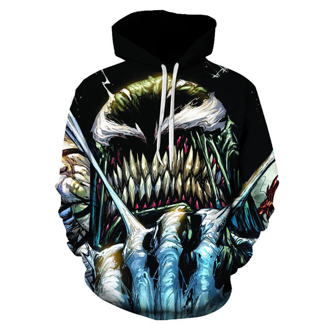 Hot Sale New arrive popular Marvel movie venom 3D Printed Hoodies Men Women Hooded Sweatshirts hip hop Pullover Pocket Jackets