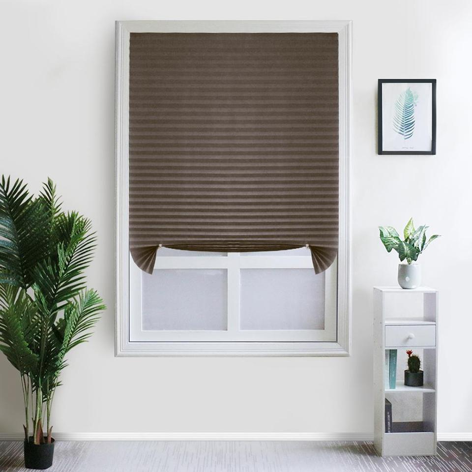 Self-Adhesive Pleated Blinds Half Blackout Bathroom Windows Curtains Shades  Treatment Living Room Bedroom Kitchen Balcony Blinds