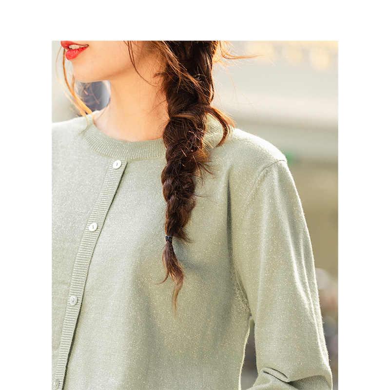 Inverno INMAN Nuovo Arrivo Letterario Solid Collare Rotonda di Colore Falso-Single-Breasted Sottile del Maglione Del Pullover