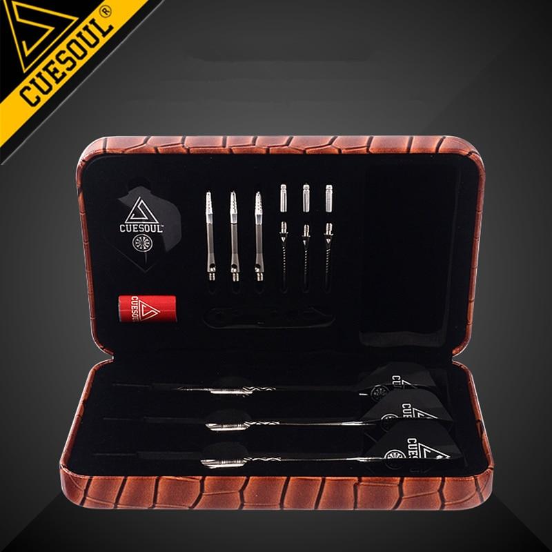 CUESOUL Darts Tool Box For Darts Professional Game Dart Accessories Brown/White/Pink/Black Color Dart Box